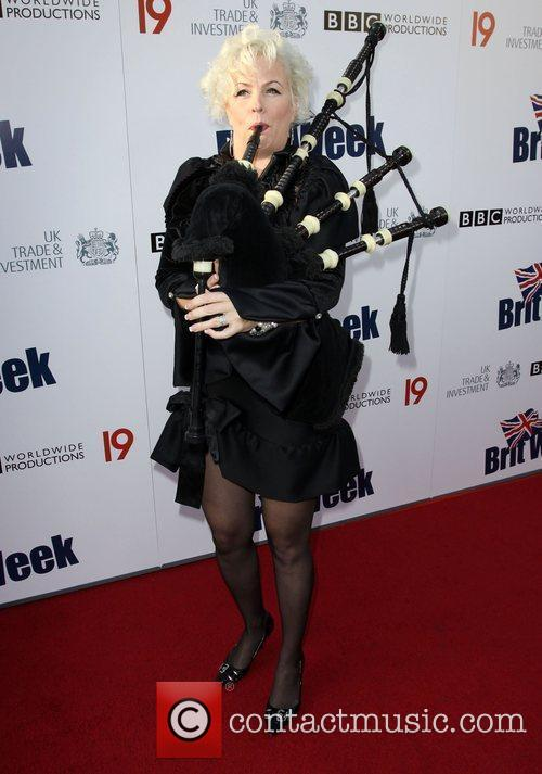Pipe Player Champagne Launch of BritWeek at the...