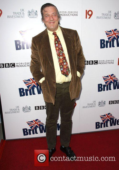 Stephen Fry Champagne Launch of BritWeek at the...