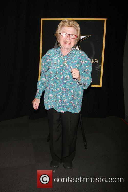 Dr. Ruth attending a special cocktail party to...