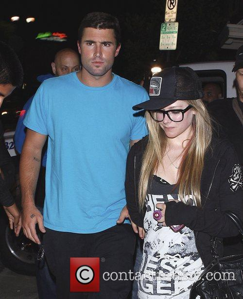 Avril Lavigne and Brody Jenner leaving Las Palmas...