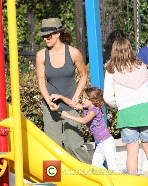 The American television personality and her children enjoy...