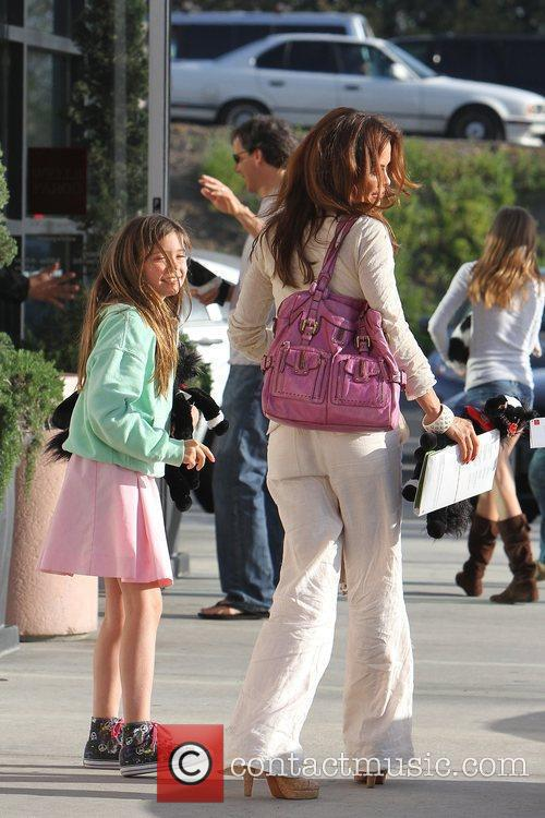 Brooke Burke and her daughter Neriah at Cross...