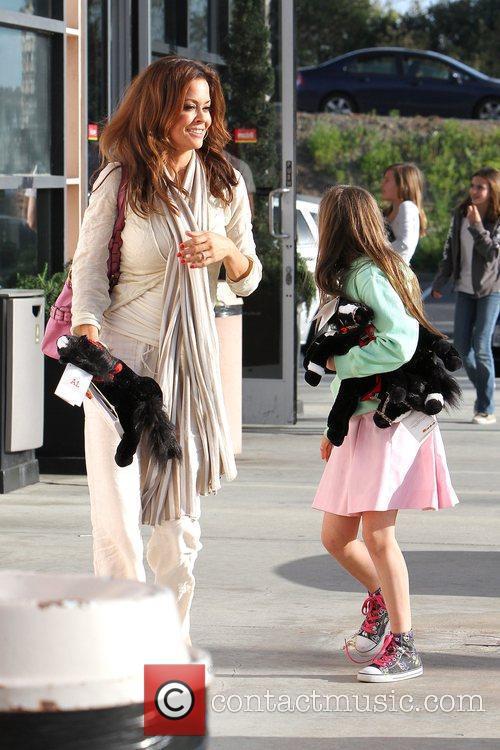 Brooke Burke and her daughter Neriah at Cross...
