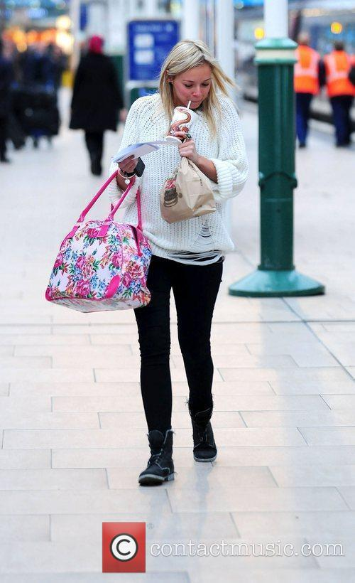 Sacha Parkinson at Manchester Piccadilly station to catch...