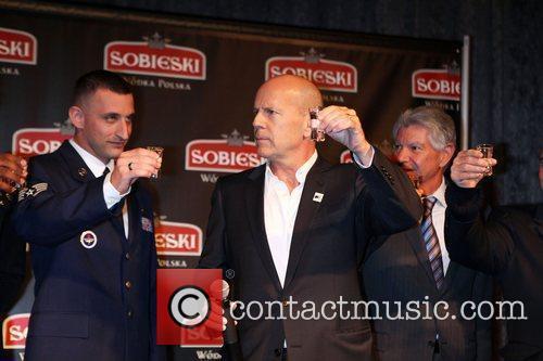 Bruce Willis Vodka brand 'Sobieski' hold an event...