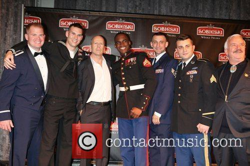 Bruce Willis with Troops and Veterans  Vodka...