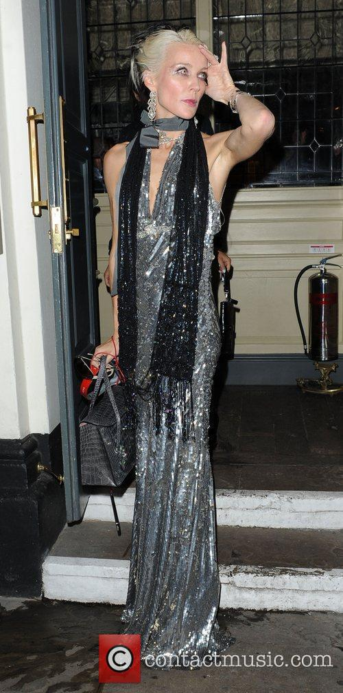 Daphne Guinness,  at Bryan Ferry's album launch,...