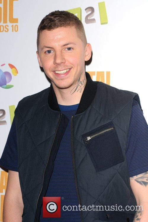 Professor Green at the BT Digital Music Awards...