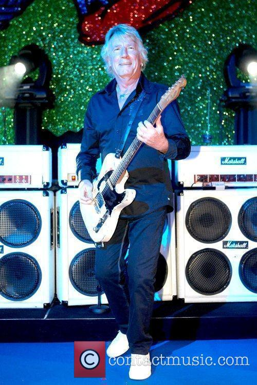 Rick Parfitt plays with his band Status Quo...
