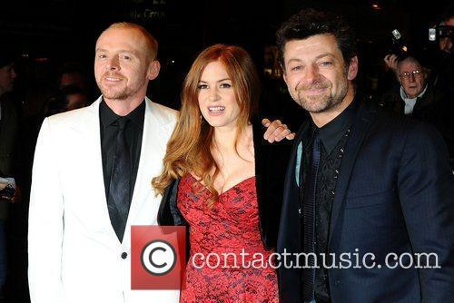 Simon Pegg, Andy Serkis and Isla Fisher 3