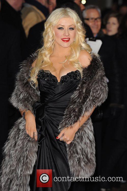 Christina Aguilera UK film premiere of 'Burlesque' held...