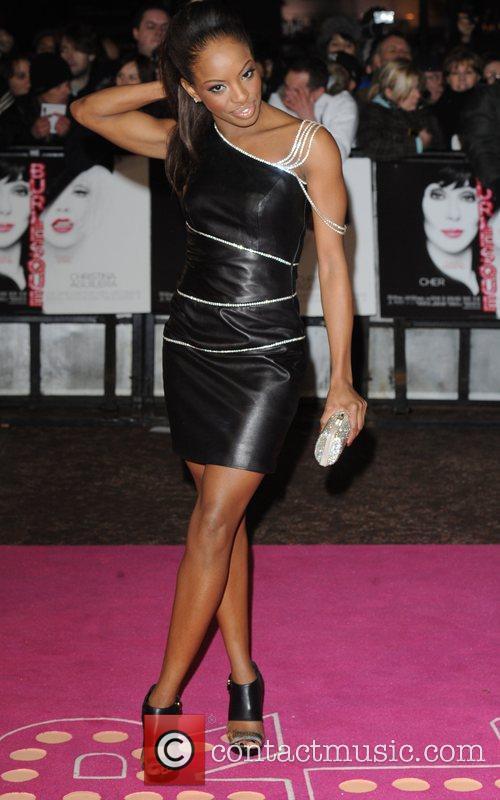 Chelsea Traille UK film premiere of 'Burlesque' held...