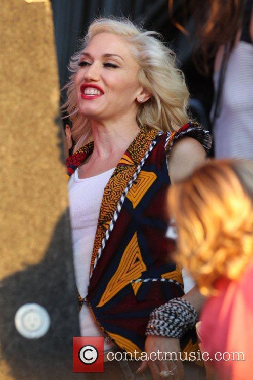 Gwen Stefani watches her husband's band 'Bush' from...
