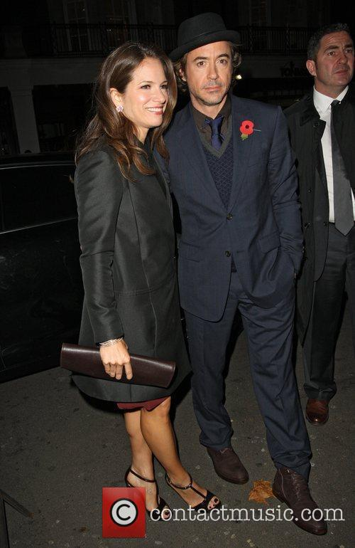 Susan Downey and Robert Downey Jr arriving at...