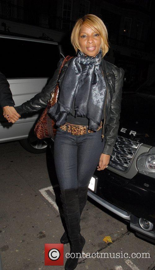 Mary J. Blige at C London restaurant