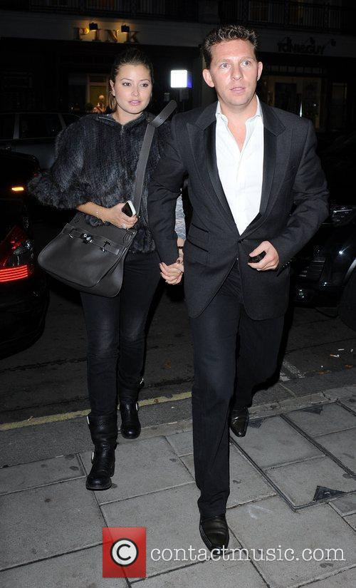 Holly Valance and Nick Candy arriving at C...