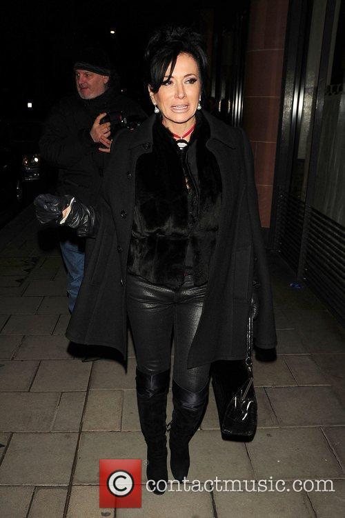 Nancy Dell'Olio arrives at C London restaurant