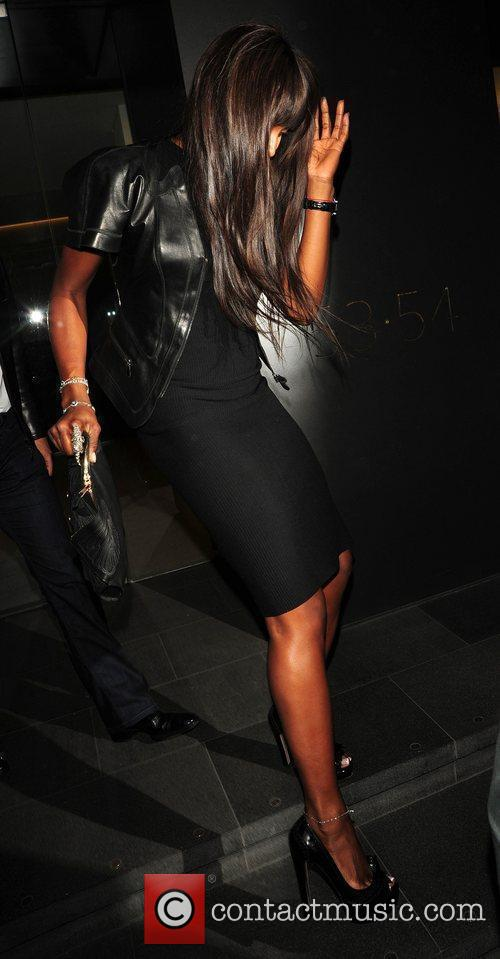 Naomi Campbell leaving C London restaurant by a...