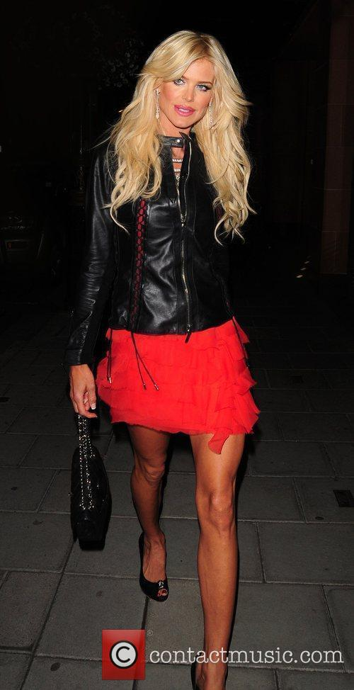 Victoria Silvstedt outside C London restaurant London, England