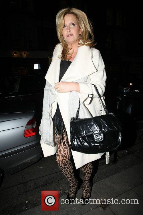 A heavily pregnant Penny Lancaster leaves C London...