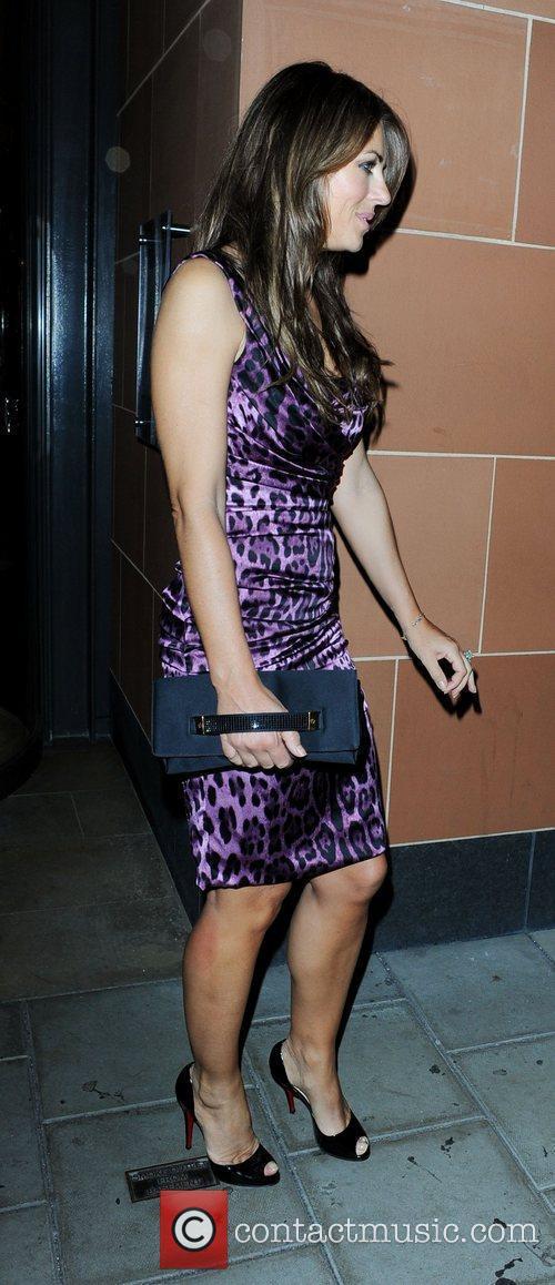Elizabeth Hurley leaving C London restaurant  London,...