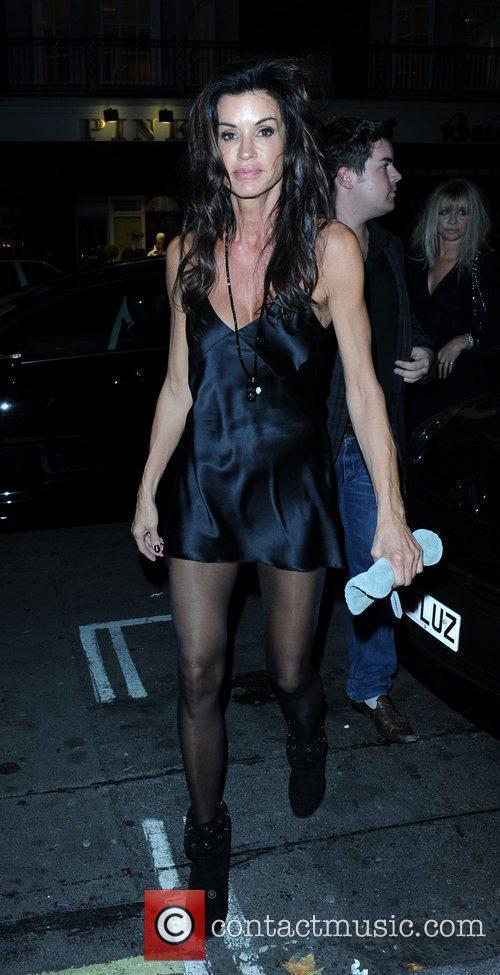 Janice Dickinson leaving C London restaurant  London,...