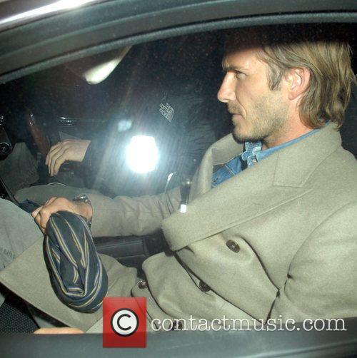 David Beckham  celebrities leaving C Restaurant London...
