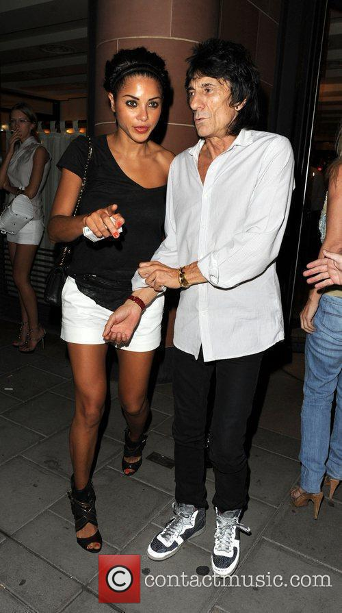 Ronnie Wood and Girlfriend Ana Araujo Leave C London Restaurant 1