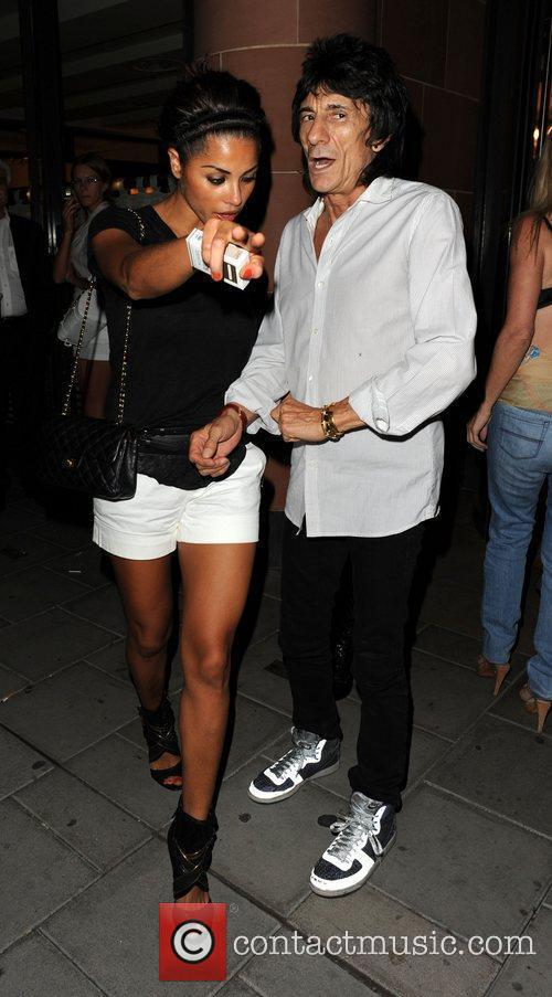 Ronnie Wood and Girlfriend Ana Araujo Leave C London Restaurant 5