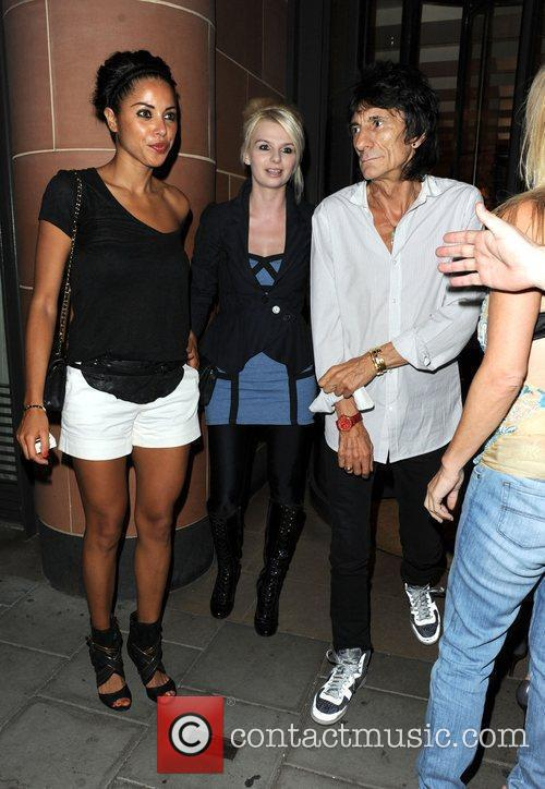Ronnie Wood and Girlfriend Ana Araujo Leave C London Restaurant 3