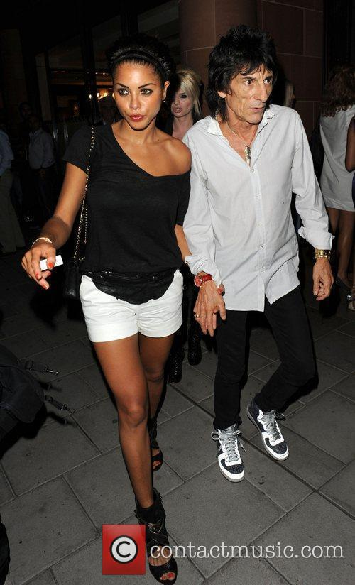 Ronnie Wood and Girlfriend Ana Araujo Leave C London Restaurant 6