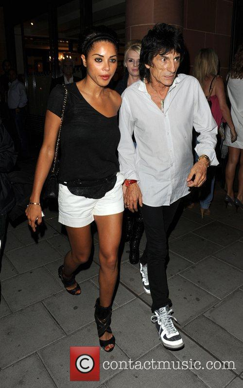 Ronnie Wood and Girlfriend Ana Araujo Leave C London Restaurant 2