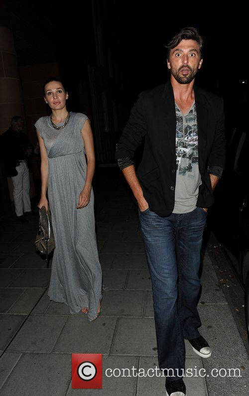 Tennis star Goran Ivanisevic with his wife at...