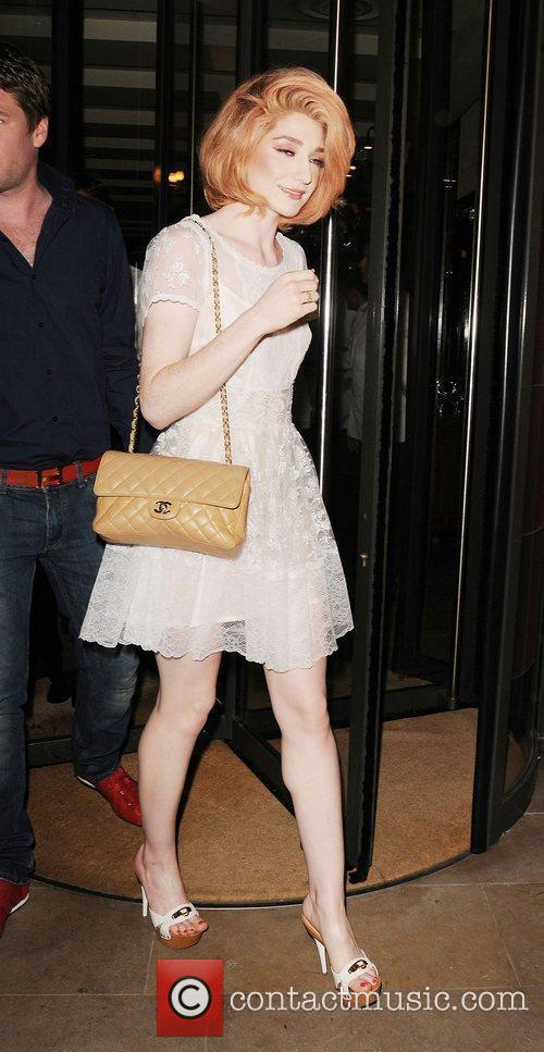 Nicola Roberts leaves C London restaurant London, England