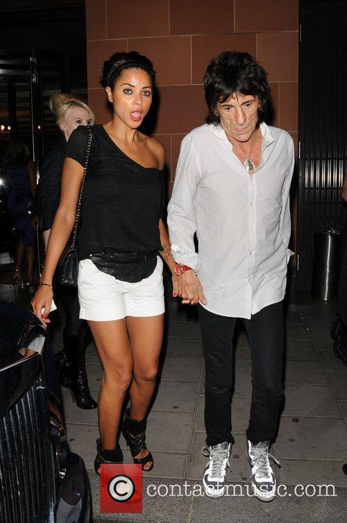Ronnie Wood and girlfriend Ana Araujo 1