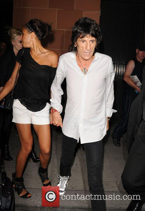 Ronnie Wood and girlfriend Ana Araujo 4