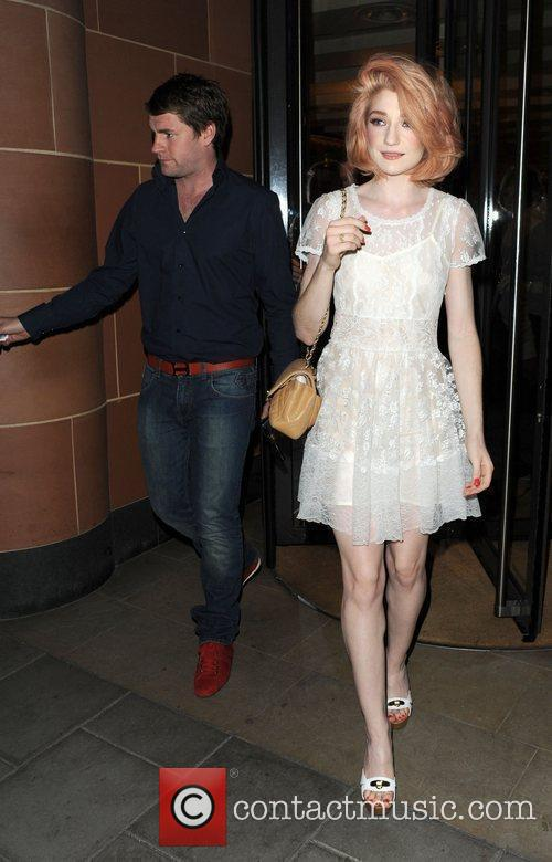 Nicola Roberts and her boyfriend Charlie Fennell leave...