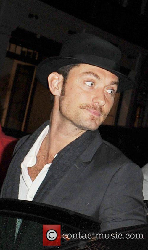Jude Law Celebrities outside C Restaurant in London...