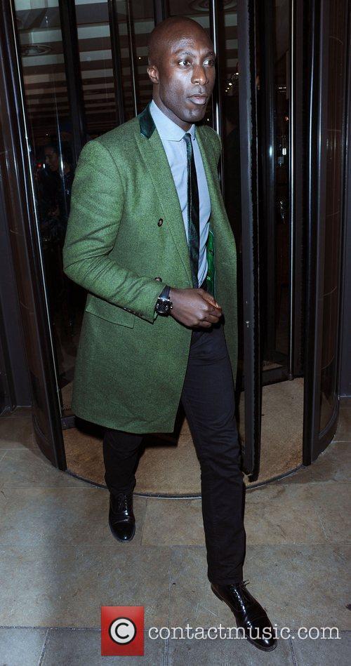 Fashion designer Ozwald Boateng Celebrities outside C Restaurant...