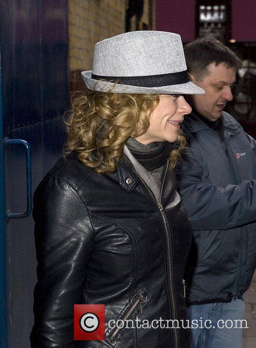 Hannah Waterman arriving at the Noel Coward Theatre...