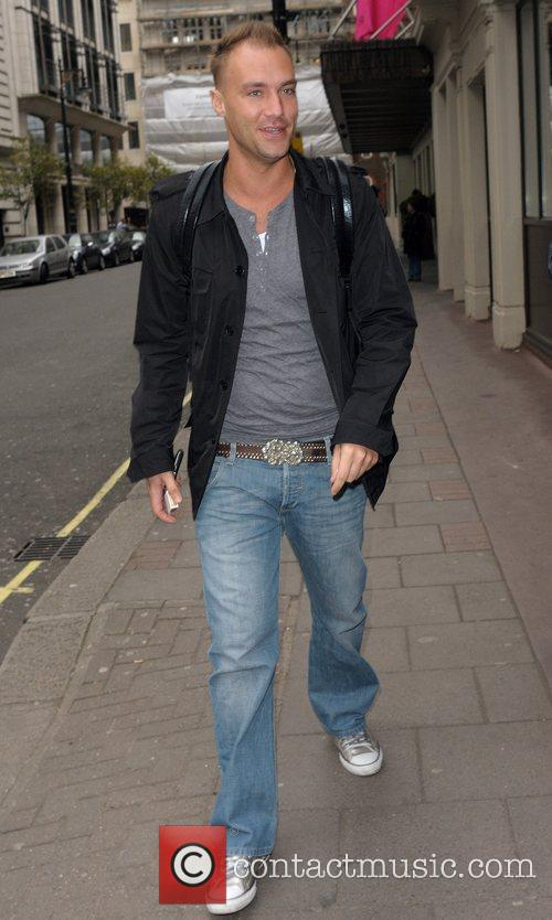 Calum Best Celebrities outside the May Fair hotel...
