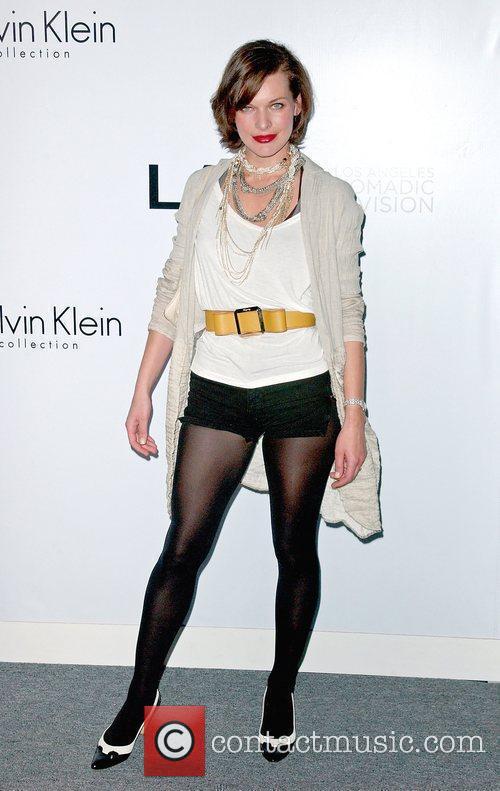 Milla Jovovich Calvin Klein Collection & Los Angeles...