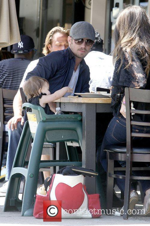 Cam Gigandet having lunch with his girlfriend and...