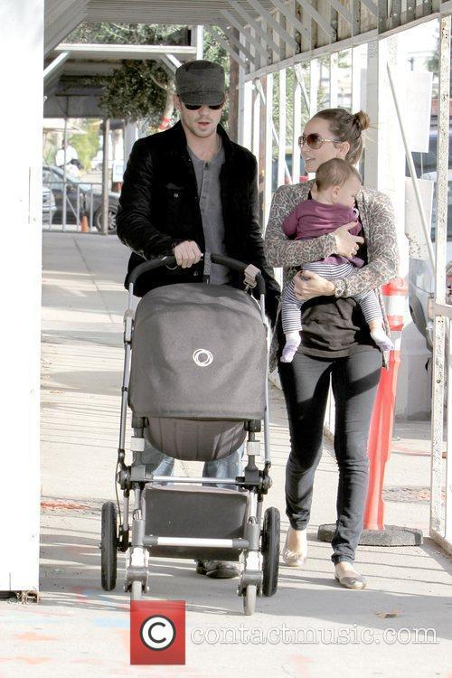 Cam Gigandet, Dominique Geisendorff and Everleigh Rae Gigandet 9