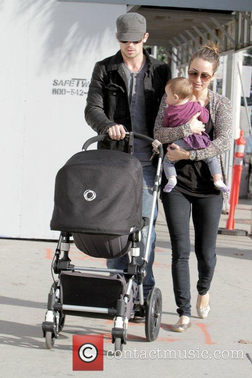 Cam Gigandet, Dominique Geisendorff and Everleigh Rae Gigandet 10