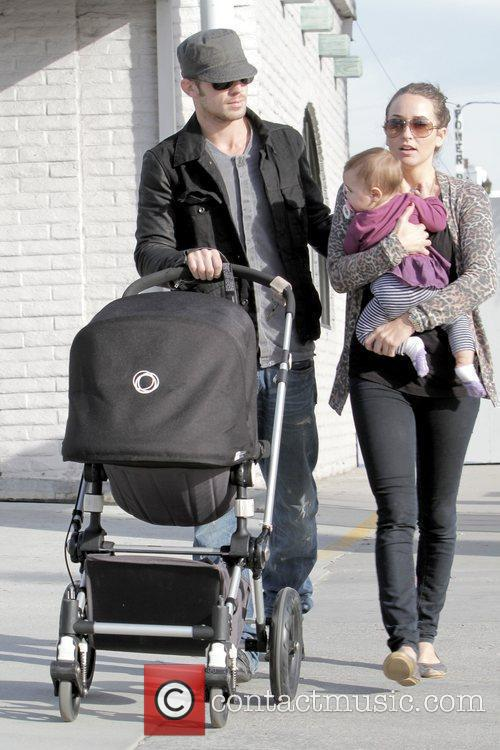 Cam Gigandet, Dominique Geisendorff and Everleigh Rae Gigandet 6