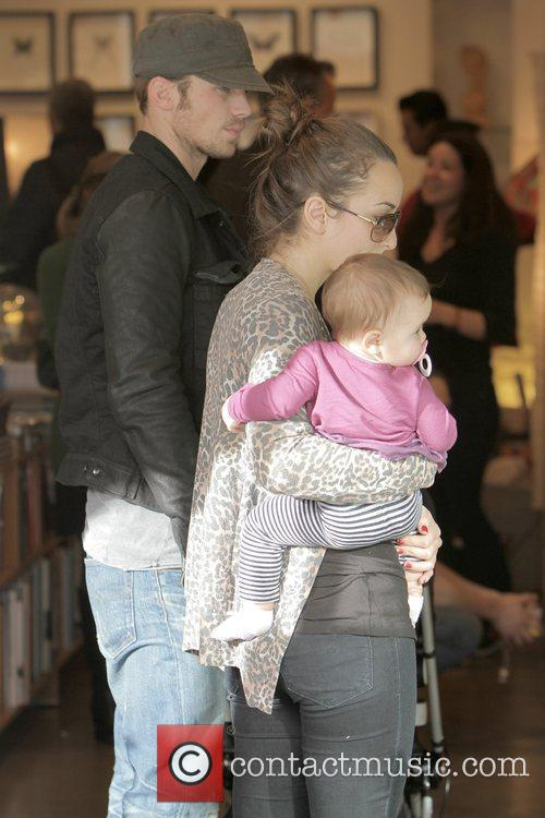 Cam Gigandet, Dominique Geisendorff and Everleigh Rae Gigandet 11