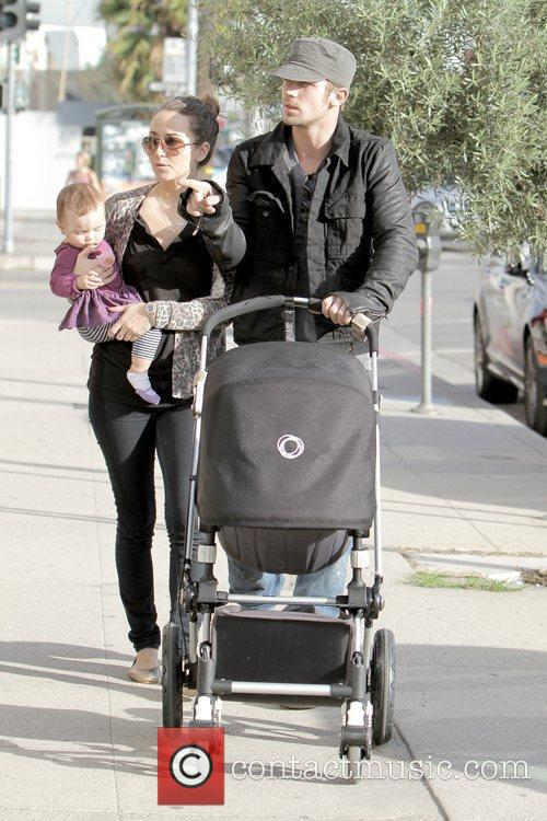 Cam Gigandet, Dominique Geisendorff and Everleigh Rae Gigandet 2