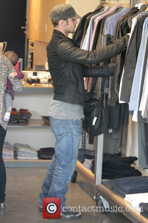 Cam Gigandet  shopping on Third Street with...