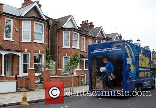 Removal men outside Prime Minister David Cameron's house...